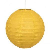 12 Inch Even Round Paper Lantern (Yellow) - 1 Piece