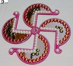 Pair of Decorative Swastik Rangoli Diwali/Gifting/Pooja
