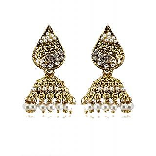 Rizir Fashion Women's Gold Pearls And Metal Alloy (Pack of 1)