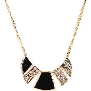 Rizir Fashion Women'S Golden Splendid Golden Statement Necklace Metal Alloy (Pack Of 1)