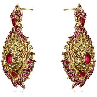 Rizir Fashion Women'S Rani Perfect Ethnic Drop Earrings Metal Alloy & Stones (Pack Of 1)