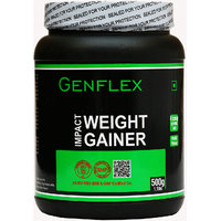 Genflex Impact Weight Gainer (Vanilla, 500 Gm/ 1.1 Lbs)