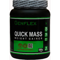 Genflex Quick Mass Weight Gainer (Rich Vanilla, 500 Gm/
