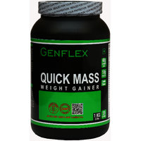 Genflex Quick Mass Weight Gainer (Rich Vanilla, 1 Kg/ 2