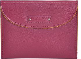 Mandava Genuine Safiano Leather Purple  Yellow Unisex Card Album