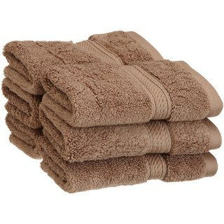 Welhouse India 6 piece 100 Cotton face towel set- Brown FCTN-001