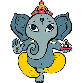 Asmi collection PVC Wall Stickers Beautiful God Ganesha