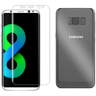 Full Edge Screen Guard For Samsung Galaxy S8 Plus (Full Screen Coverage) Front And Back