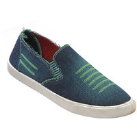 Walkaroo Green Color Loafers For Men