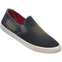 Walkaroo Yellow Color Loafers For Men