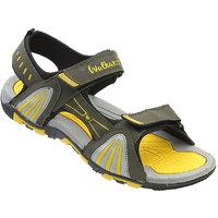 Walkaroo Yellow Color Sandals For Men