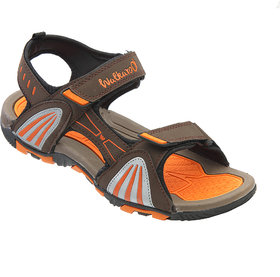 Walkaroo Orange Color Sandals For Men