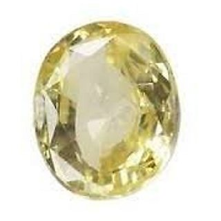 8.25 Yellow Sapphire (Pukhraj) 100 Natural With Lab Certified