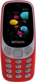 Mymax M3310 (Dual Sim, 1.8 Inch Display, Wireless FM, 1000 Mah Battery, Red)