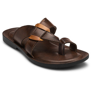 Adreno Men Jock Brown Casual Sandals