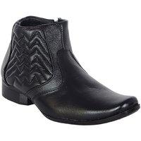 Shoebook Men's Black Leather Classic Boots