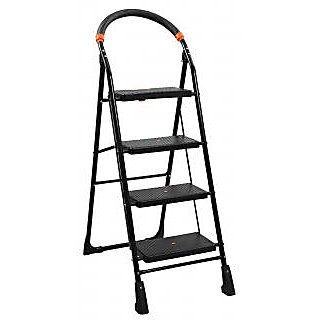 Cameo Pro 6 5 4 3 2 steps Folding step Ladder with Load Capacity upto 150 kg with Anti-Skid PVC Shoe   Clutch Lock  Knee Guard which provide perfect Balancing  safety wihle Climbing ( With 10 Years Warranty )