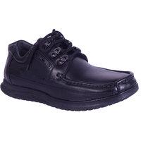Shoebook Men's Black Leather Casual Shoes