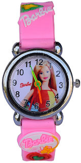 New Barbie Girl PINK Color Analogue Watch For Kids