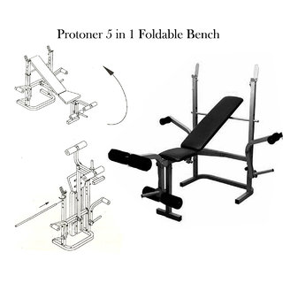 Protoner Weight Lifting 5 in 1 Foldable Bench