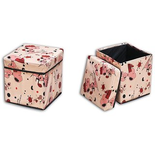 Home Fluent Multi Purpose Foldable Storage Stool (STSL11)