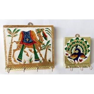 Royals Pride K109 Wooden Key Holder(7 Hooks, Multicolor)