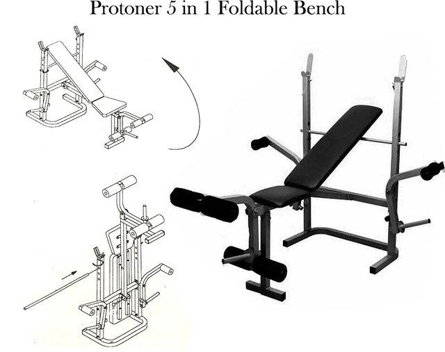 Admirable Protoner Weight Lifting 5 In 1 Foldable Bench Frankydiablos Diy Chair Ideas Frankydiabloscom