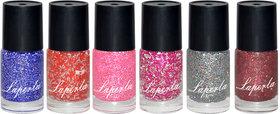 Laperla Premium Nail Paint combo Pack of 6