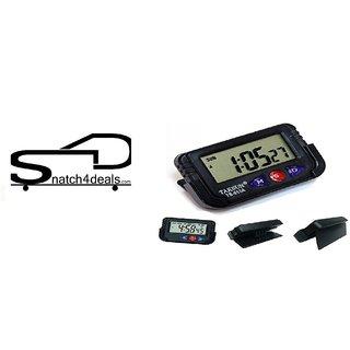 Digital Lcd Alarm Table Desk Car Calendar Clock Timer Stopwatch Dashboard / Office Desk Alarm Clock And Stopwatch