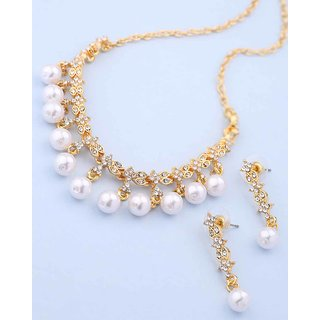 fb69c944f23 Buy Voylla CZ Studded Necklace Set Combo For Women Online @ ₹2114 ...