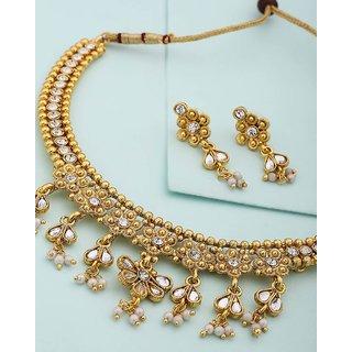 Voylla Floral Designed Necklace Set For Women