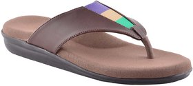 Dia One Orthopedic Chappal PU Sole MCP Insole Diabetic Footwear for Women (L.Cozy Triangle Multicolor Top Dia_57 Size 6 - 26 cm - 7.5 UK/India)