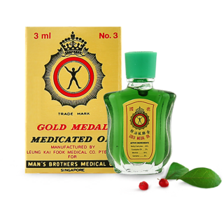 IMPORTED GOLD MEDAL MEDICATED OIL - 3ML (MADE IN SINGAPORE)