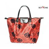 Sevvone Red Big Tote Handbag