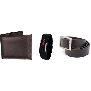iLiv Multicolor PU Belt for Men (Combo)