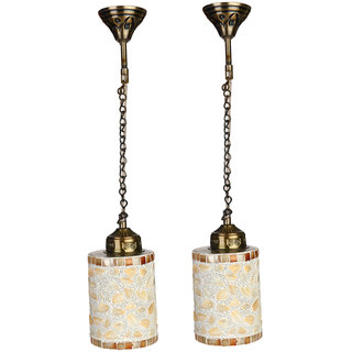 Somil Pandent Magic Light Ceiling Lamp Hand Decorative With Colorful Chips & Beads
