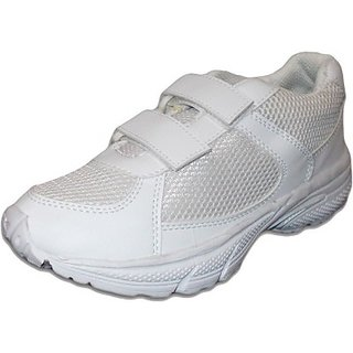 AS White clr School Shoes
