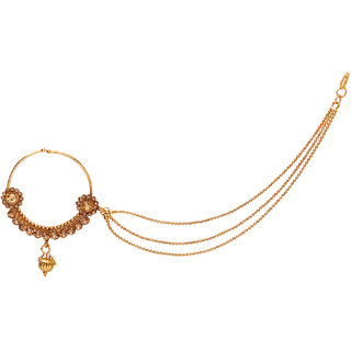 Penny Jewels Alloy Party Wear  Wedding Latest Nath Set For Women  Girls