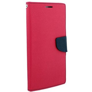 New Mercury Goospery Fancy Diary Wallet Flip Case Back Cover for Lenovo 2010 (Pink)