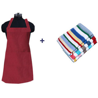 JARS Collections Combo of Apron and Kitchen Duster(10x10 Inches)