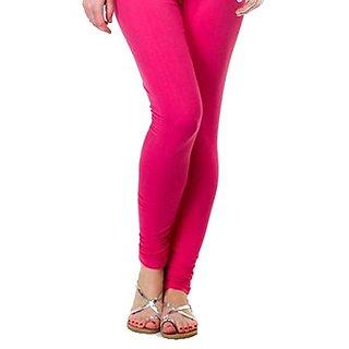 Leggings For Women 95 Cotton 5 Licra  Free Size Comfortable Stylish Leggings Full Length Legging (Pink)
