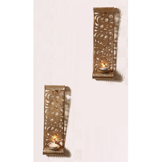 Buy Anasa Decorative Wall Sconce Metal T Light Candle Holder