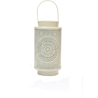 Anasa Round Shape Moroccan Hanging Lantern  Ceiling Lamps And Light White 9.5 Inch