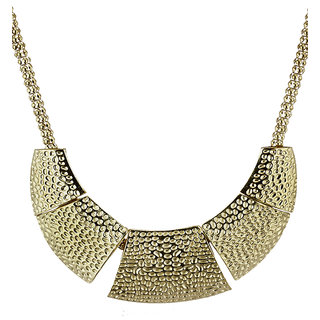 Rizir Fashion Women'S Golden Egyptian Statement Necklace Metal Alloy & Stones (Pack Of 1)