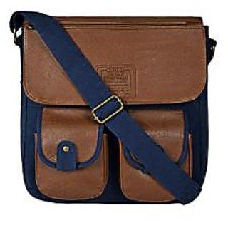 Purseus Blue Plain Handbag