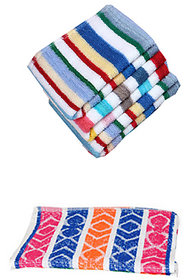 xy decor Collections Combo of 1 Hand Towel(35x53 cm)and 1 Face Towel(10x10 Inch)