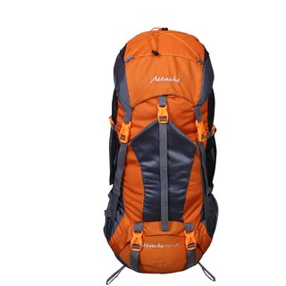 Attache 1025R Rucksack Hiking Backpack 75Lts (Orange) With Rain Cover