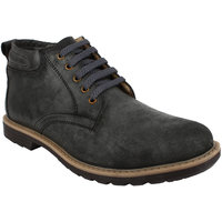 Fuel Mens Grey Laced Up Smart Casual Shoes