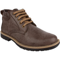 Fuel Mens Tan Laced Up Smart Casual Shoes
