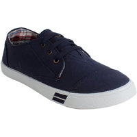Fuel Mens Navy Slip On Sneakers Shoes